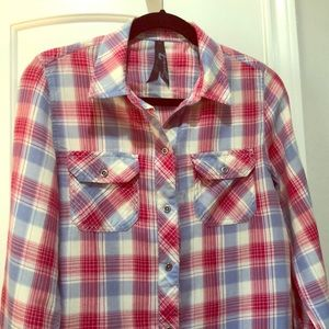 Seven 7 Jeans Long Sleeved Plaid Button Down